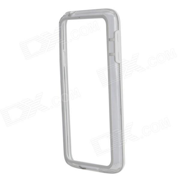 Protective PC + TPU Bumper Frame for Samsung Galaxy S5 - White + Transparent protective tpu pc bumper frame for samsung galaxy s5 mini green
