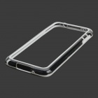 Protective PC + TPU Bumper Frame for Samsung Galaxy S5 - White + Transparent