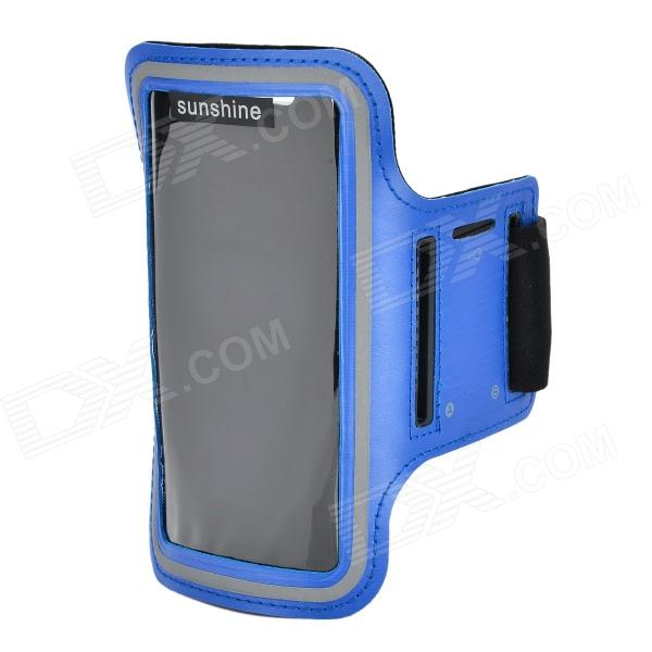 SUNSHINE Sports Velcro Band Armband for Samsung Galaxy S5 - Blue + Black sunshine sports velcro protective arm bag for samsung galaxy s5 i9600 red black