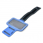 SUNSHINE Sports Velcro Band Armband for Samsung Galaxy S5 - Blue + Black
