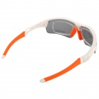 Outdoor Cycling UV400 Protection PC Sunglasses / Goggles - White + Grey