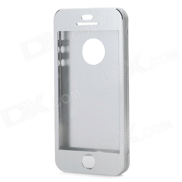 Protective Aluminum Alloy Smart Full Body Case w/ CID Window for IPHONE 5 / 5S - Silver