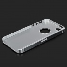 Suojaava Matte Aluminum Alloy takakannen Cover w / PC + ABS Inner iPhone 5 / 5S - Hopea