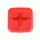 4-Compartemtn Medicine Pill Case Box - Red