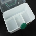 Médecine Pill Box pratique Case - Transparent + Vert (Large)