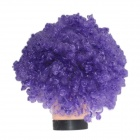 2014 World Cup Fans Explosion Hair Curly Party Wig - Purple