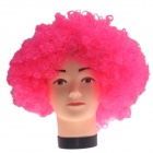 2014 World Cup Fans Explosion Hair Curly Party Wig - Deep Pink