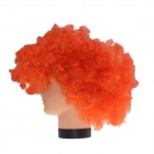 2014 World Cup Fans Explosion Hair Curly Party Wig - Orange