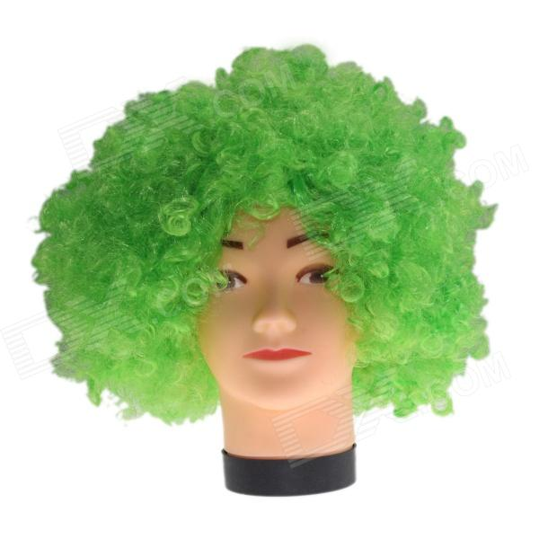 2014 World Cup Fans Explosion Hair Curly Party Wig - Green