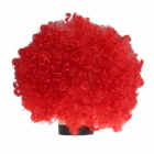 2014 World Cup Fans Explosion Hair Curly Party Wig - Red