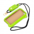 Protective PU Leather Back Case Cover w/ Strap for IPHONE 5 / 5C / 5S - Green