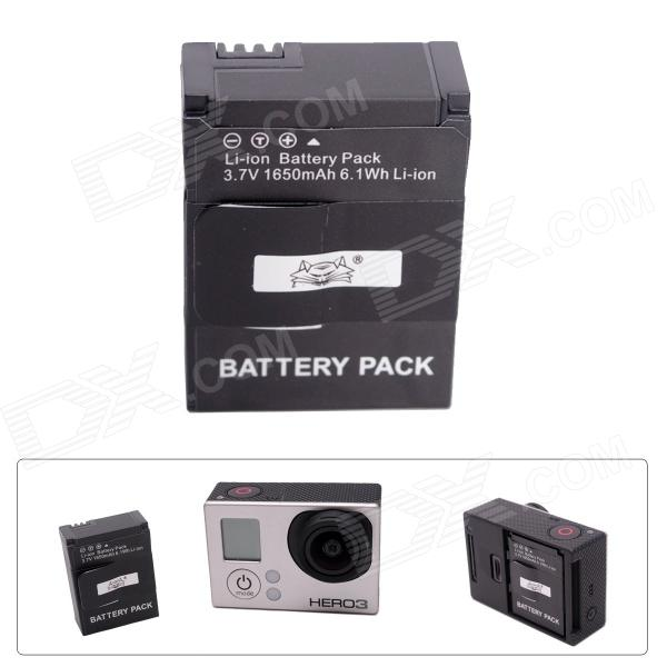 Fat Cat AHDBT-301 High Capacity 1500mAh Li-ion Replacement Battery for GoPro Hero 3 / Hero2 - Black