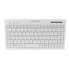 ER YE FU RFK-604 Ultra-thin Mute USB 2.0 89-Key Keyboard for Laptop - White (145cm-Cable)