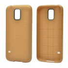 Plaid Pattern Protective TPU Back Case for Samsung Galaxy S5 - Brass
