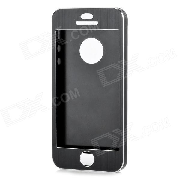 Protective Aluminum Alloy Smart Full Body Case w/ CID Window for IPHONE 5 / 5S - Black