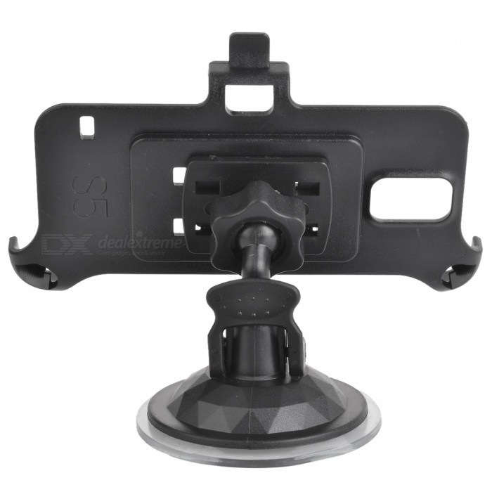 sunshine Car Mount Holder Stand w/ Suction Cup for Samsung Galaxy S5 - Black