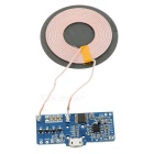DIY Universal Qi Standard Wireless Charger Round Transmitter Module - Deep Blue
