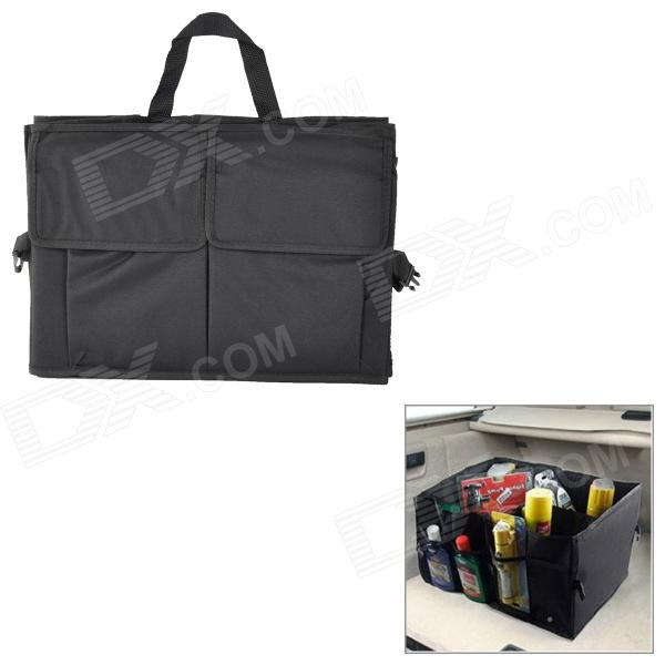 Large Water Resistant Oxford Car Trunk Storage Hand Bag - Black