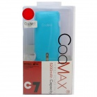 COOMAX C7 4000mAh USB Mobile Power Source Bank w/ LED Flashlight for IPHONE + More - Blue