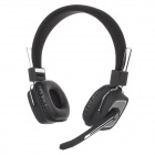 BH-32 Stereo Bluetooth V4.0 Headband Style Earphone w/ Microphone for IPHONE - Black