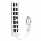 High Speed USB 2.0 7-Port Hub w/ Independent Switch - White