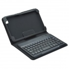 Bluetooth V3.0 Keyboard + Protective PU Leather Case w/ Stand for Samsung Galaxy Tab Pro 8.4 - Black