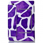 "Stone Pattern PU Leather Case Cover Stand w/ Suction Cup for 7"" Tablet PC - Purple + White"