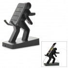 Creative Heavy Burden on the Back Style Plastic Stand Holder for IPHONE - Black