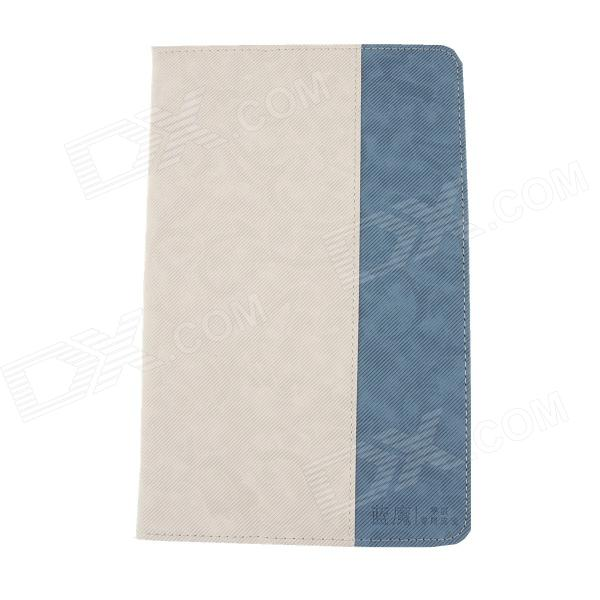 RAMOS Protective PU Leather Case Cover w/ Stand for RAMOS i9 - White + Blue