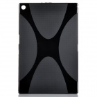 """X"" Style Protective TPU Back Case for Sony Xperia Tablet Z2 - Black"