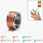Intelligent Magic Ring with NFC for Smart Phone - Rose Golden (Size 10)