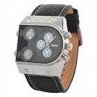 OULM 9315 Men's Stylish Analog Quartz Wristwatch - Black (3 x 626)