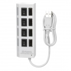High Speed USB 2.0 4-Port Hub w/ Independent Switch / Indicator - White