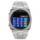 "TW818B GSM Acier inoxydable Android / IOS Wrist Watch Phone w / 1,54 ""/ TF / V3.0 Bluetooth - Argent"