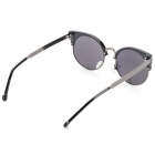 Stylish Cateye UV400 Protection Sunglasses w/ Cellulose Acetate Frame / PC Lens - Black + Grey