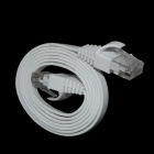 RJ-45 Gold-plated CAT 6# Flat Network Cable - White (1M)