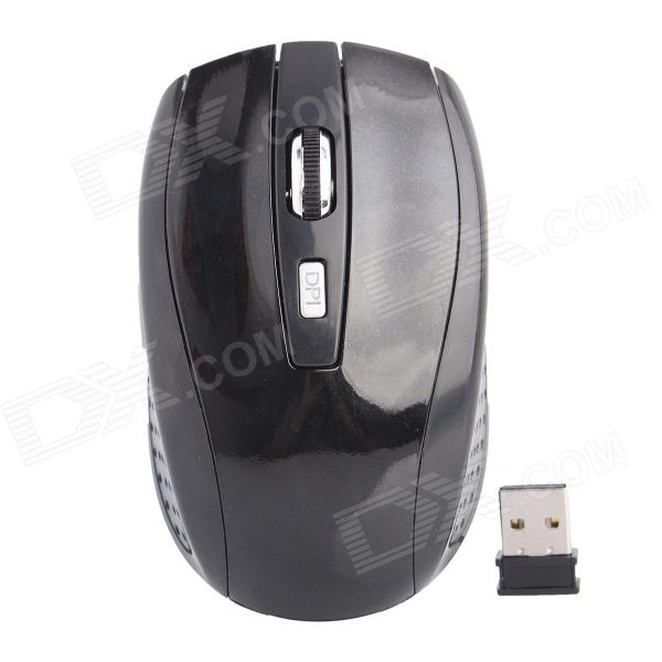 2.4GHz Wireless 800/1200/1600dpi Optical Mouse - Black zuntuo zt 302 heise 2 4ghz 800 1200 1600 2000dpi wireless optical mouse black blue