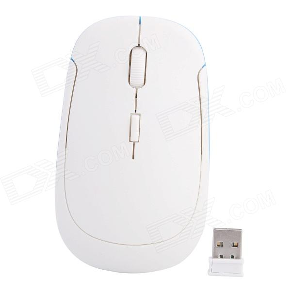 Ultra-slim 2.4G Wireless DPI 800/1200/1600 Optical Mouse - White zuntuo zt 302 heise 2 4ghz 800 1200 1600 2000dpi wireless optical mouse black blue