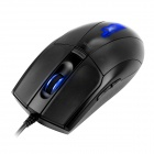 Dare-u JX2 negro 800-2800dpi 6-botón azul LED alta precisión USB con cable Gaming Mouse