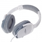 KEENION KDM-906 Stereo Headphone w/ Volume Control / Microphone - White + Grey