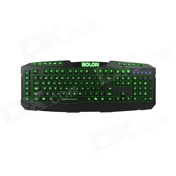 Dare-u BOLON USB Wired Gaming Keyboard - Black dare u wcg armor soldier 6400dpi 7 programmable buttons metab usb wired mechanical gaming mouse