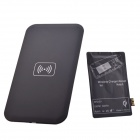 QI Wireless Charger Pad + Wireless Charger Reciever for Samsung Galaxy Note 2 / N7100 - Black