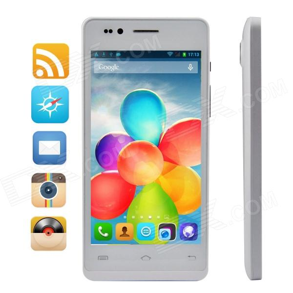 "Simtelep H3 Quad-Core WCDMA Android 4.2.2 Bar Phone w/ 4.5"" HD IPS, 512BM RAM, 4GB ROM - White"
