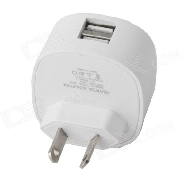 Universal Compact Dual USB 100~260V AU Plug AC Power Charging  Adapter - White цена и фото