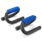 01 S-Type Push Up Stands Bars Muscle Building Home Fitness Equipment - Black + Blue