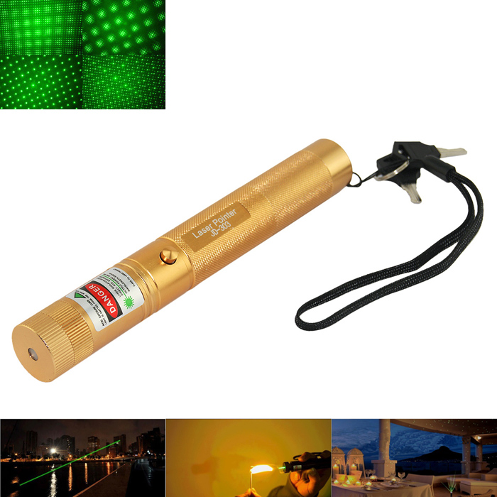 Marsing 303 5mW 532nm Starry Sky Green Laser Pointer Flashlight - Golden (1 x 18650) laser head owx8060 owy8075 onp8170