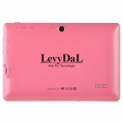 "Levy DaL 7 ​​""écran tactile capacitif Android 4.1 Tablet PC w / 512 Mo de RAM, 8 Go de ROM - rose"