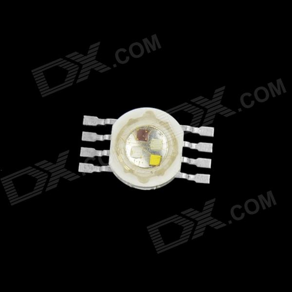 WaLangTing 4W 65lm RGB 8 Feet Round Lamp Beads LED Full Color Lamp Bead - White + Silver (2.0~3.6V)