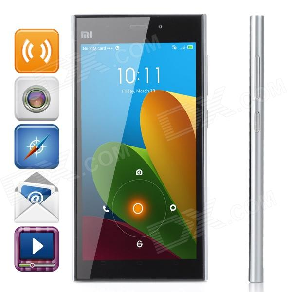 XiaoMi M3 MIUI V5 Quad-core WCDMA Bar Phone w/ 5.0 IPS, RAM 2GB and ROM 16GB - Silver