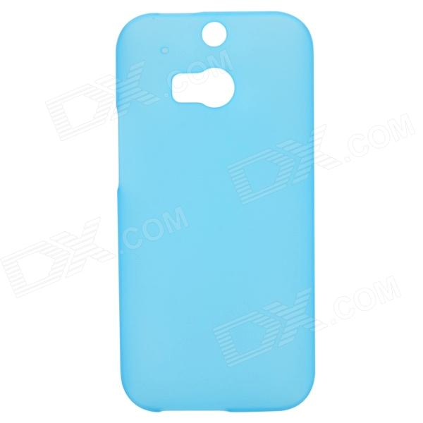 Protective PC Back Case for HTC ONE 2(M8) - Translucent Blue one piece 1x brand new high quality silicon protective skin case cover for xbox 360 remote controller blue green mix color